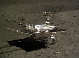 Jade Rabbit lunar rover on the moon